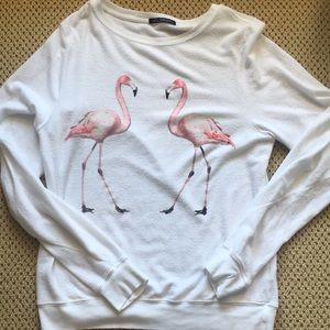 Wild fox Pink Flamingo Sweatshirt